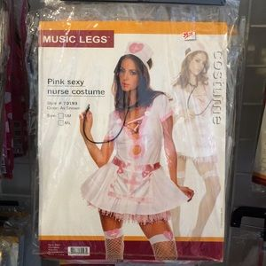 MUSIC LEGS PINK SEXY-NURSE COSTUME SZ M/L